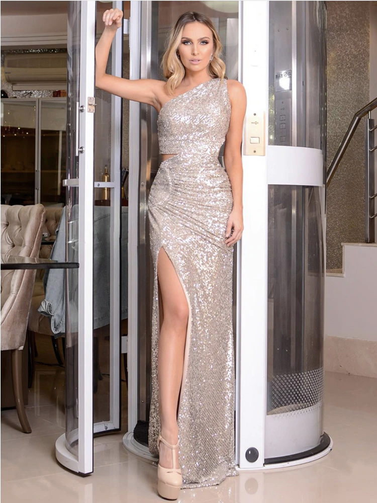 Felicia Sequins Gown - Silver
