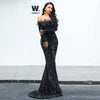 Isla Black Sequin Gown