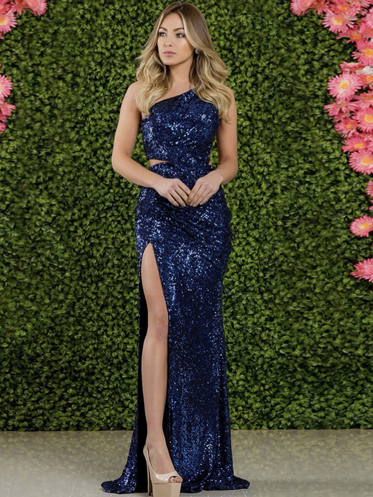 Felicia Sequins Gown - Navy