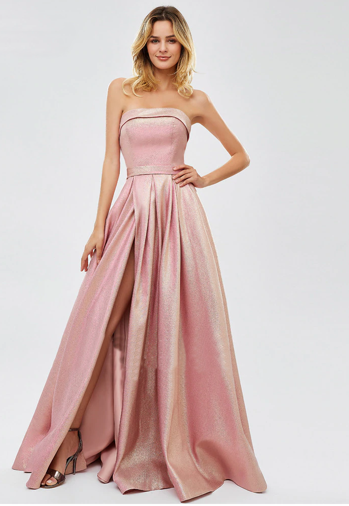 Suki Metallic Formal Gown