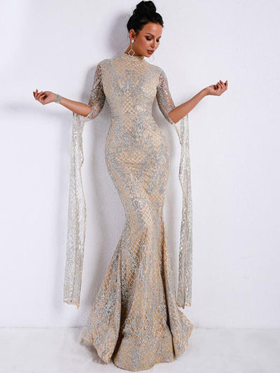 Emperial Glitter Gown - Ivory