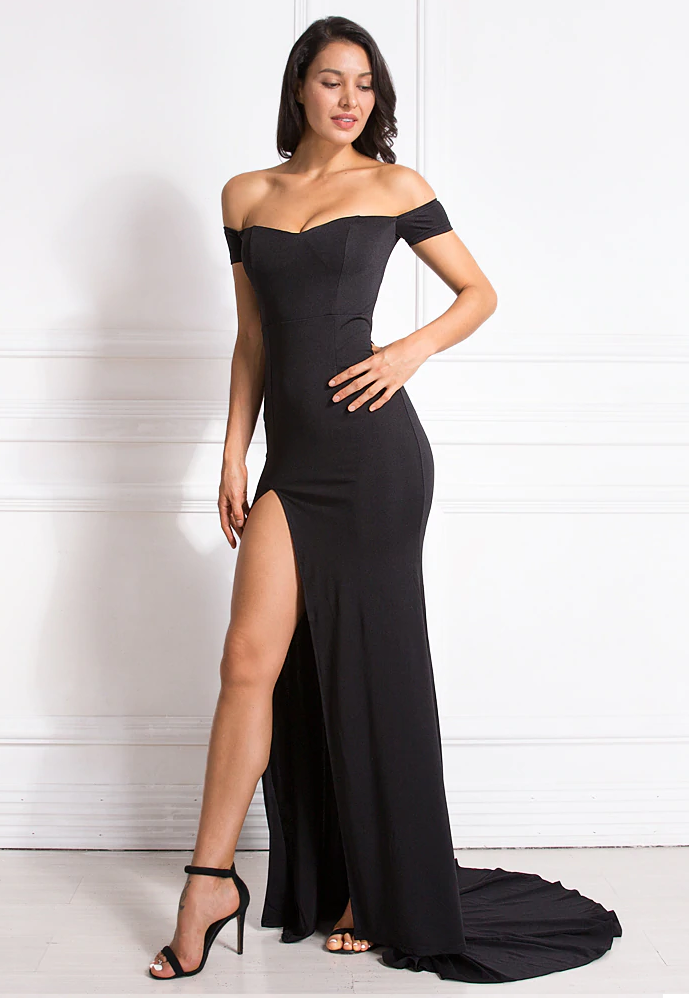 Nikisha Formal Dress - Black