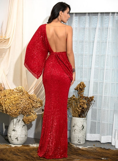Milano Sequins Gown - Red