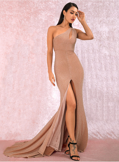 Annette One Shoulder Gown