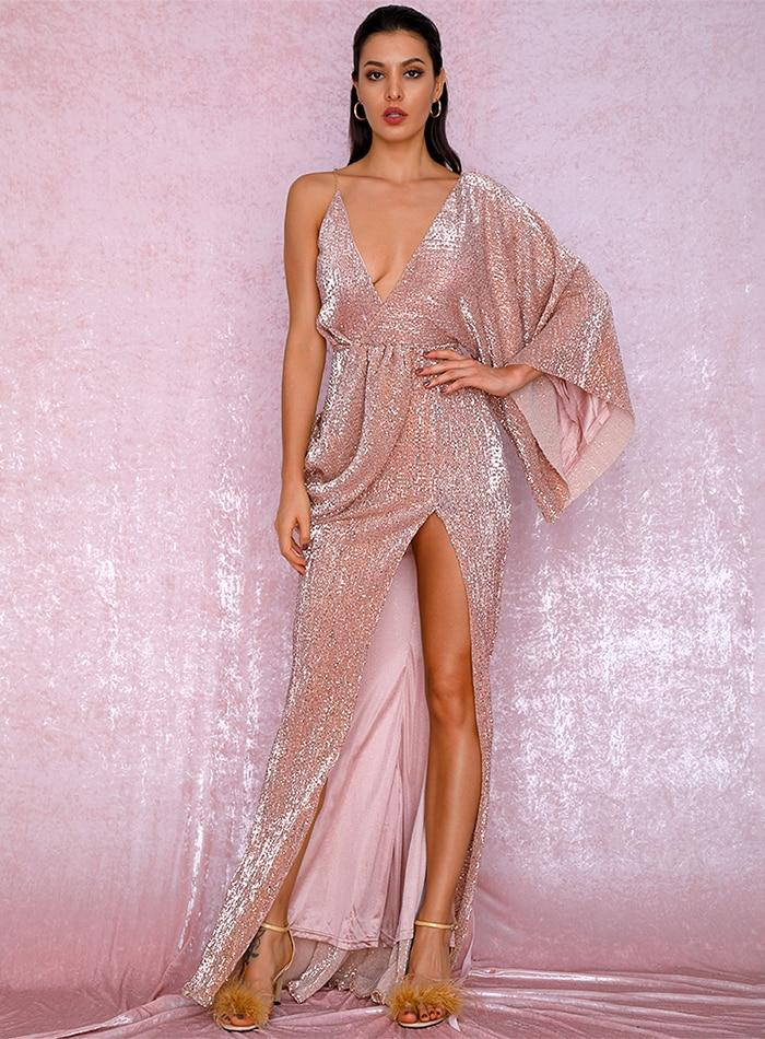 Milano Sequins Gown - Rose Gold