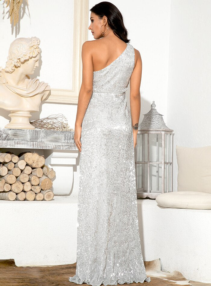 Kristi Sequins Gown - Silver