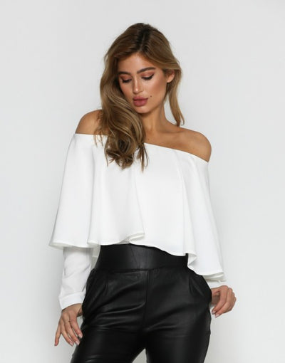 Tricia Off Shoulder Ivory Top
