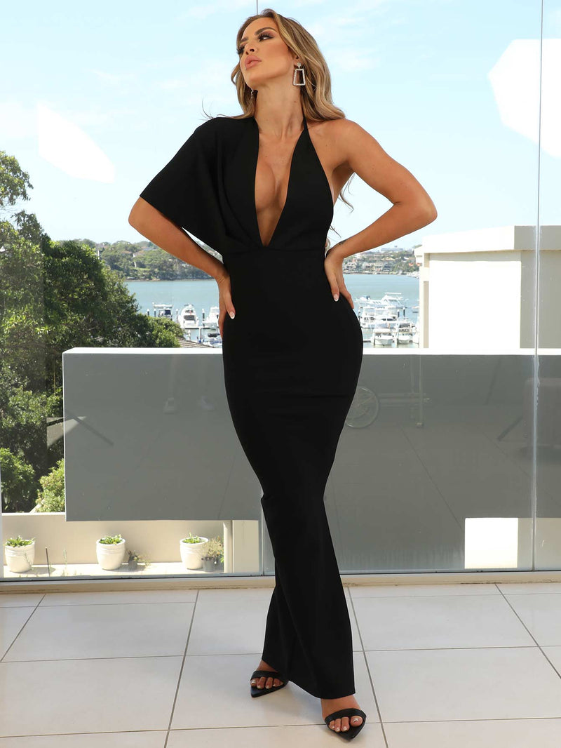 Tatiana Black Bandage Dress