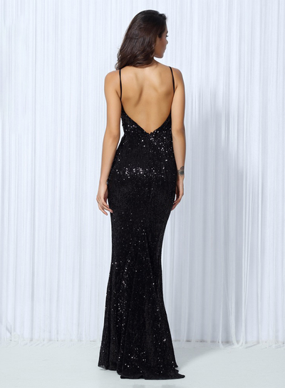 Kianna Sequins Gown - Black