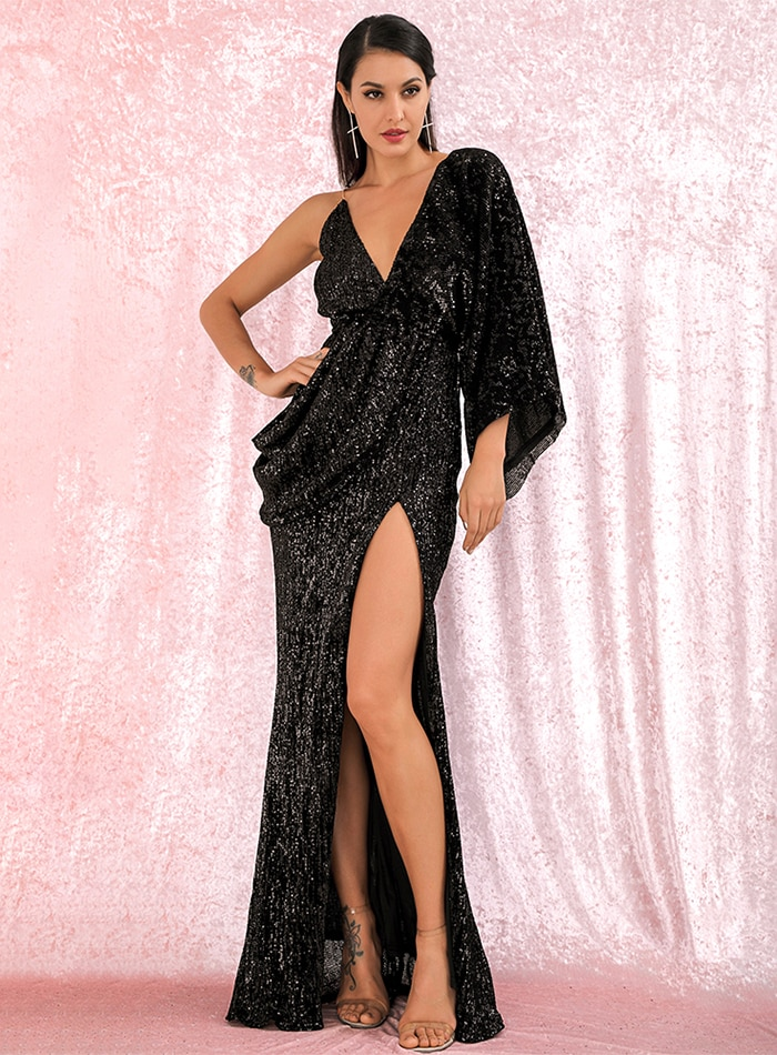 Milano Sequins Gown - Black