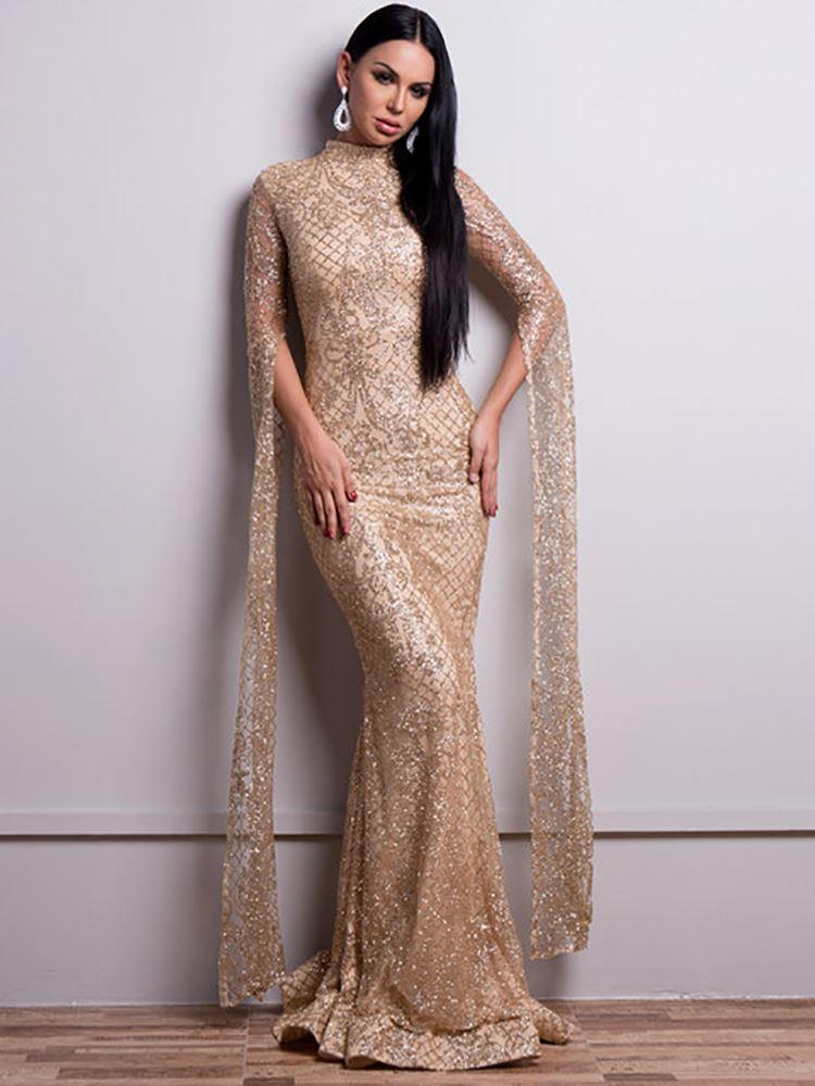 Emperial Glitter Gown - Gold