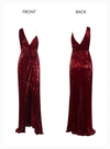 Misha Sequins Gown - Wine Red