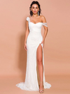 Lucia Ivory Glitter Gown