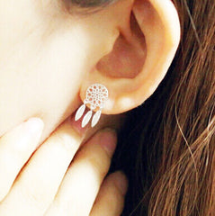 Sterling Silver Dreamcatcher Studs