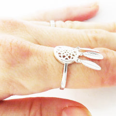 Sterling Silver Dreamcatcher Ring