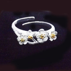 Sterling Silver Blossom Ring