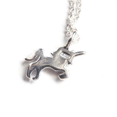 Sterling Silver Mini Unicorn Necklace