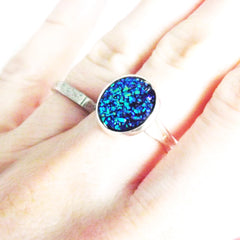 Blue Galaxy Ring