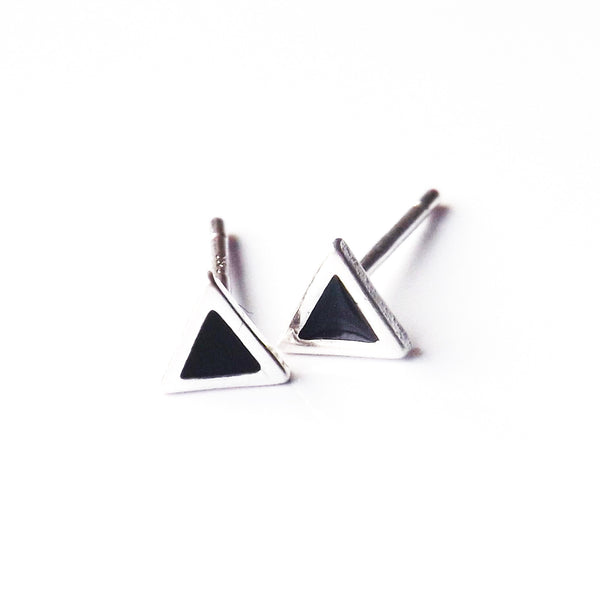 Sterling Silver Traingle Studs