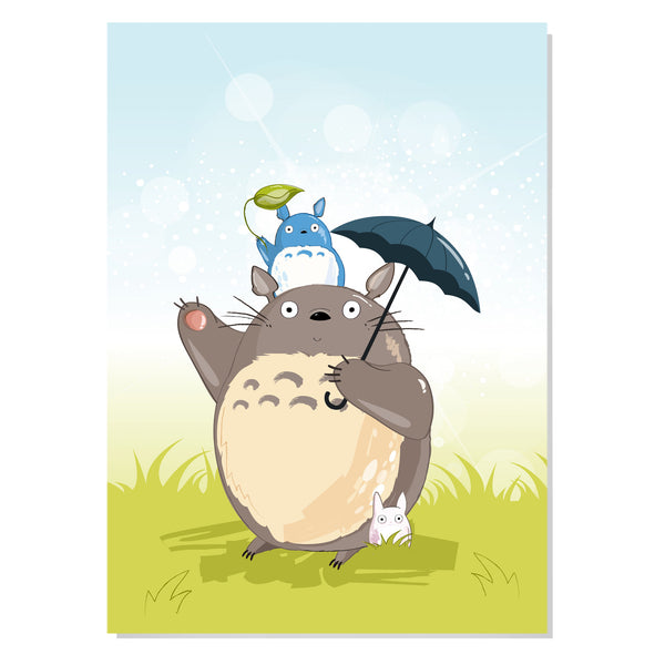 Totoro & friends Art Print