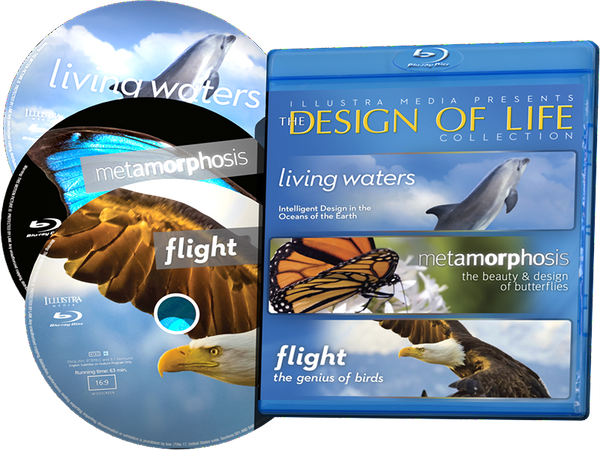 Design of Life Blu-ray Collection (3 Discs in One Package - Living Waters, Flight, Metamorphosis)