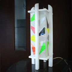 Lampu Meja Putih Colorful