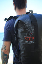 "Load image into Gallery viewer, ""Stop Finning"" - Waterproof Dry Bag - Backpack"