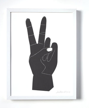 Peace Sign Art Print