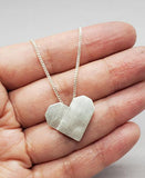 Necklace, Silver Paper Heart