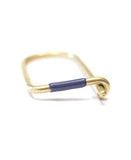 blue enamel key ring