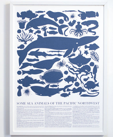 Art Print, Sea Animals of the Pacific Northwest