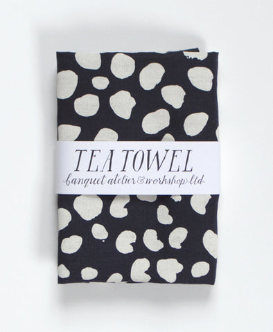 Linen Tea Towel, Animal Spot Dots