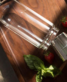 Lab-grade borosilicate glass bottle & ultra fine removable stainless steel infusion filter