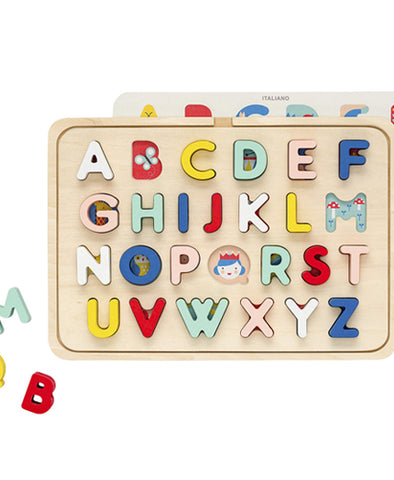Wooden Multi-Language Alphabet Tray Puzzle