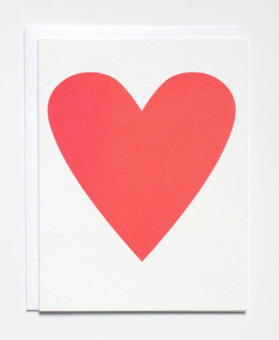 Greeting Card, Neon Pink Heart