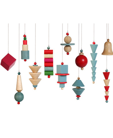 Bauhaus Era Christmas Ornaments