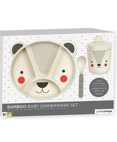 Bamboo Bear 3-Piece Mealtime Set