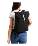 black slim backpack