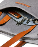 Front external zip pocket with integrated organization