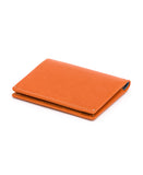burnt orange slim sleeve wallet