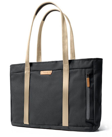 Classic Tote, in Charcoal Polycanvas Recycled