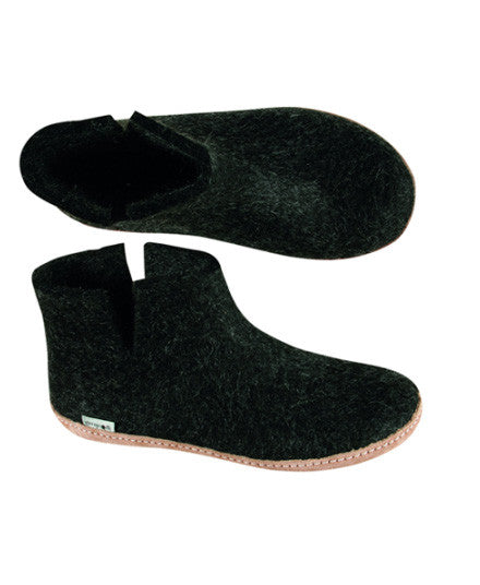 Charcoal Boot Slippers