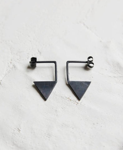 Earrings, Triangle No. 12