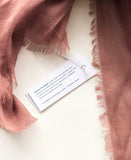 hang tag on each scarf