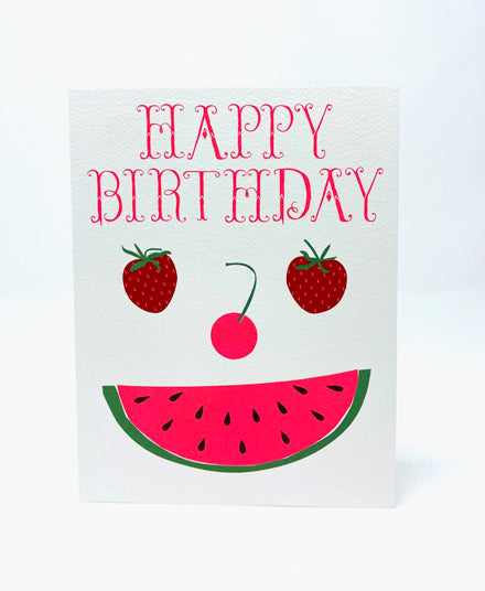Greeting Card, Happy Birthday Fruit Face
