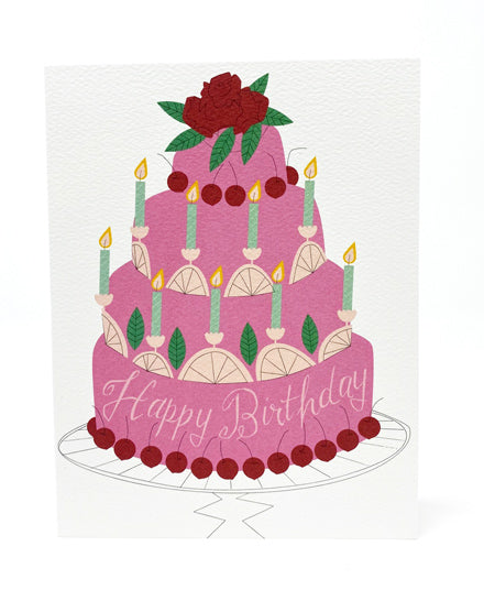 Greeting Card, Happy Birthday With Cake
