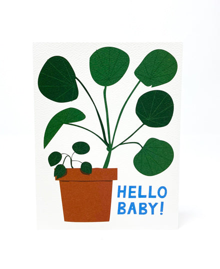 Greeting Card, New Baby Pilea Plant