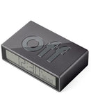 gunmetal flip travel clock