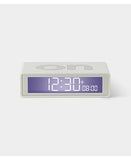 white flip travel clock