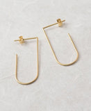yellow gold filled earrings